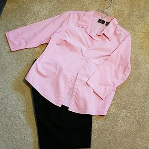 Tops - Pink Button Up Blouse
